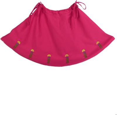 SSMITN Solid Girl's Regular Pink Skirt
