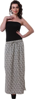 Purys Printed Women's Straight Black, White Skirt
