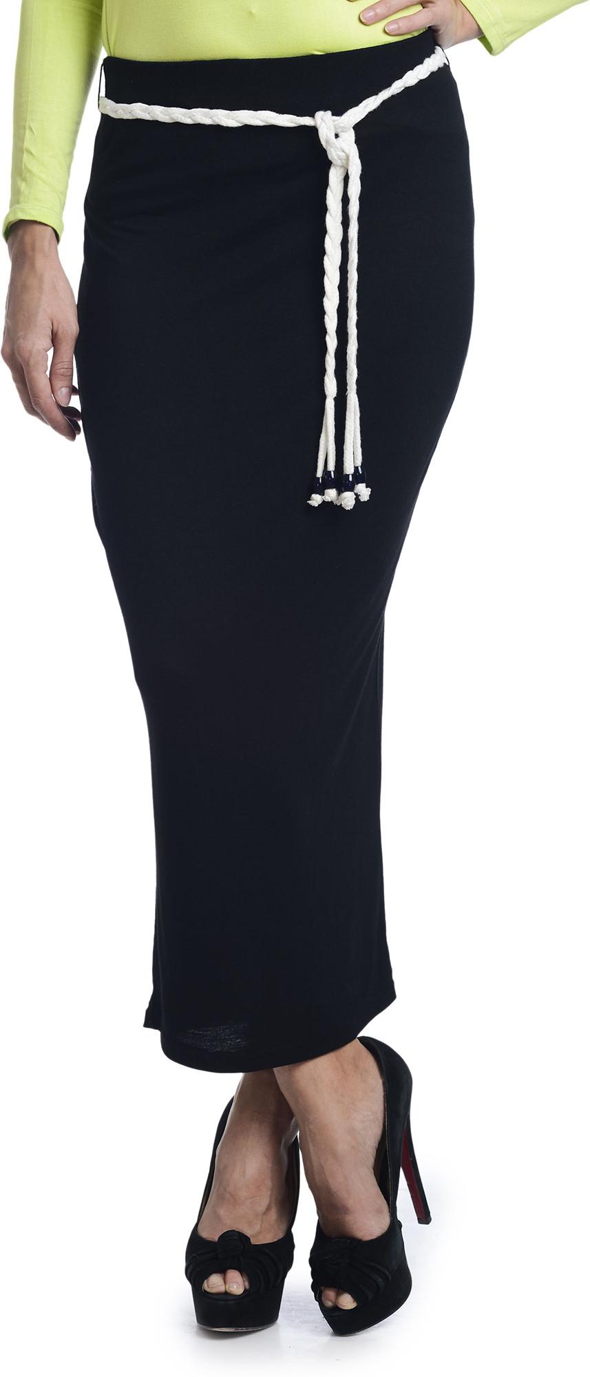Bohemian You Solid Womens A-line Black Skirt
