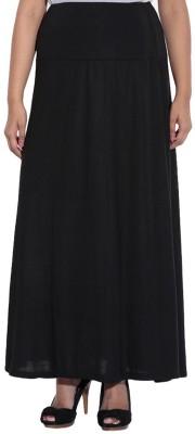 Ace Solid Women's Regular Black Skirt