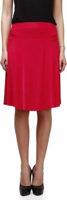 Legis Solid Women's Regular Red Skirt
