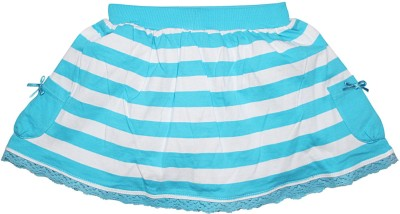 FS Mini Klub Striped Girl's A-line Blue Skirt
