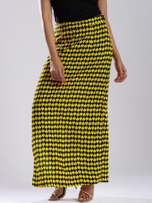 Anouk Printed Women's A-line Black Skirt