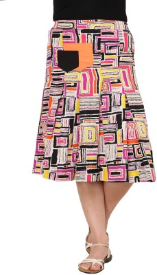 Rvestir Geometric Print Women's A-line Multicolor Skirt