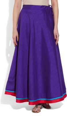 Very Me Solid Women's A-line Purple Skirt
