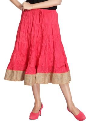 Carrel Solid Women's Broomstick Multicolor Skirt