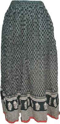 Vg store Printed Women's Regular Black Skirt