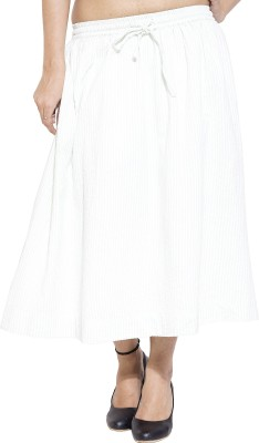 Simplona beau Solid Women's A-line White Skirt
