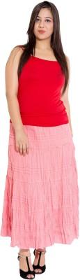 Wardtrobe Solid Women's Regular Pink Skirt