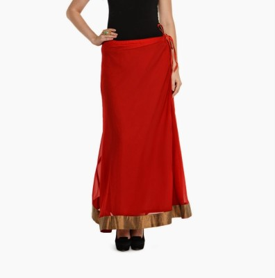 Navyou Solid Women's A-line Red Skirt