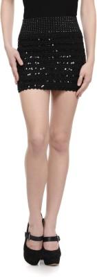 N-Gal Embellished Women's Pencil Black Skirt