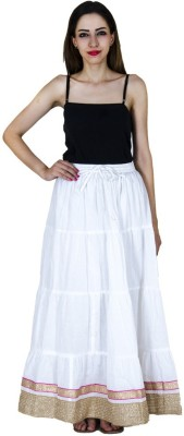 Home Shop Gift Embellished Women,s Broomstick White Skirt