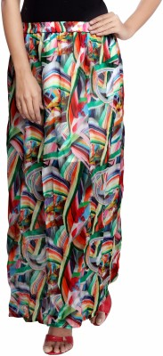 Urban Fashion Bank Printed, Graphic Print Women's Regular Multicolor Skirt