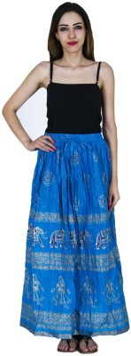 Home Shop Gift Printed Women,s Straight Blue Skirt