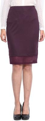 Pera Doce Solid Women's Tube Purple Skirt