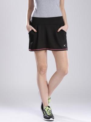 HRX by Hrithik Roshan Solid Women's A-line Black Skirt