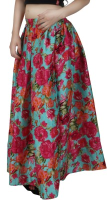 Natty India Floral Print Women's Regular Multicolor Skirt at flipkart