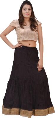 carrol Solid Women's A-line Brown Skirt
