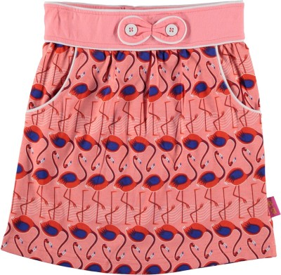 Bakery Babes Printed Girl's A-line Orange Skirt