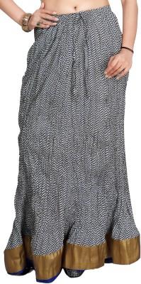 Carrel Printed Women's Broomstick Grey Skirt