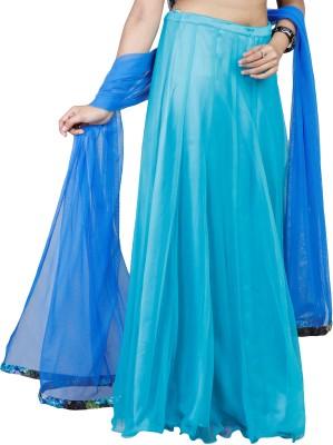 iihaa Solid Women's A-line Blue Skirt