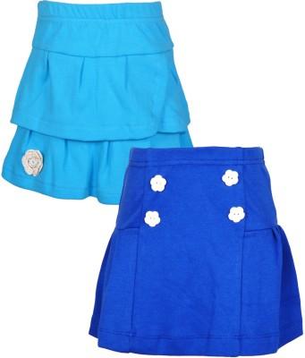 Lil Orchids Embellished Girl,s Regular Light Blue, Blue Skirt