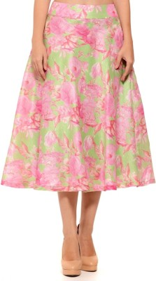 Sugar Her Printed Women's A-line Pink Skirt