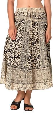 SBS Printed Women's Regular Beige Skirt