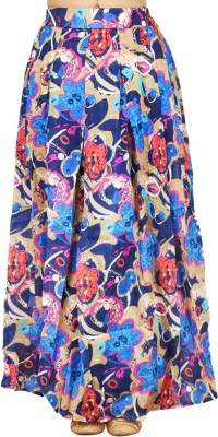 LondonHouze Floral Print Women's Pleated Multicolor Skirt