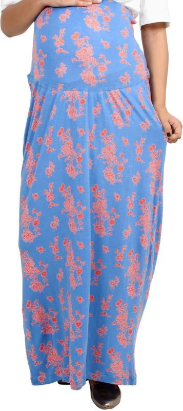 9teen Again Printed Women's Straight Blue Skirt