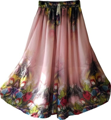 Fashion Ritmo Floral Print Women's Regular Multicolor Skirt
