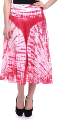 Today Fashion Printed Women's A-line Pink Skirt