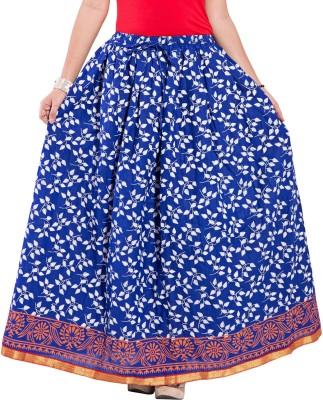 Decot Paradise Self Design Women's Regular Blue Skirt