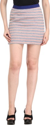 Cali Republic Striped Women's Pencil Multicolor Skirt at flipkart