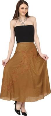 Sataro Self Design, Striped Women's Straight Brown Skirt