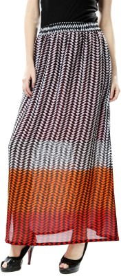 Glam & Luxe Printed Women's Straight Multicolor Skirt