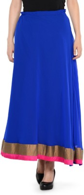 Hoor Solid Women's A-line Blue Skirt