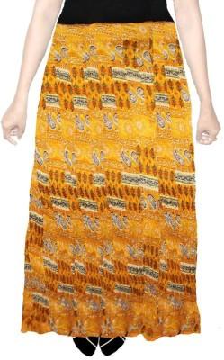 AS42 Paisley Women's Straight Yellow Skirt