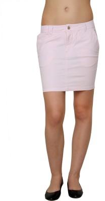 Pankhuri For Women Solid Women,s Tube Pink Skirt