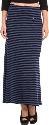 Camino Striped Women's Regular Dark Blue, Black Skirt