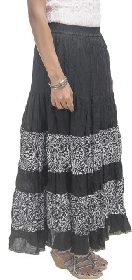 Retaaz Solid, Graphic Print Women's Broomstick Multicolor Skirt