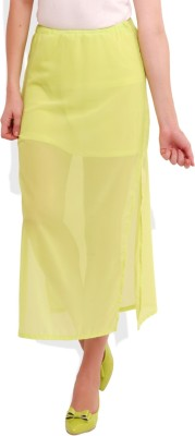 Street 9 Solid Women's Straight Green Skirt