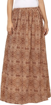Tops and Tunics Printed Women's Regular Brown, White Skirt