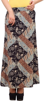 Ladybug Printed Women's Broomstick Multicolor Skirt