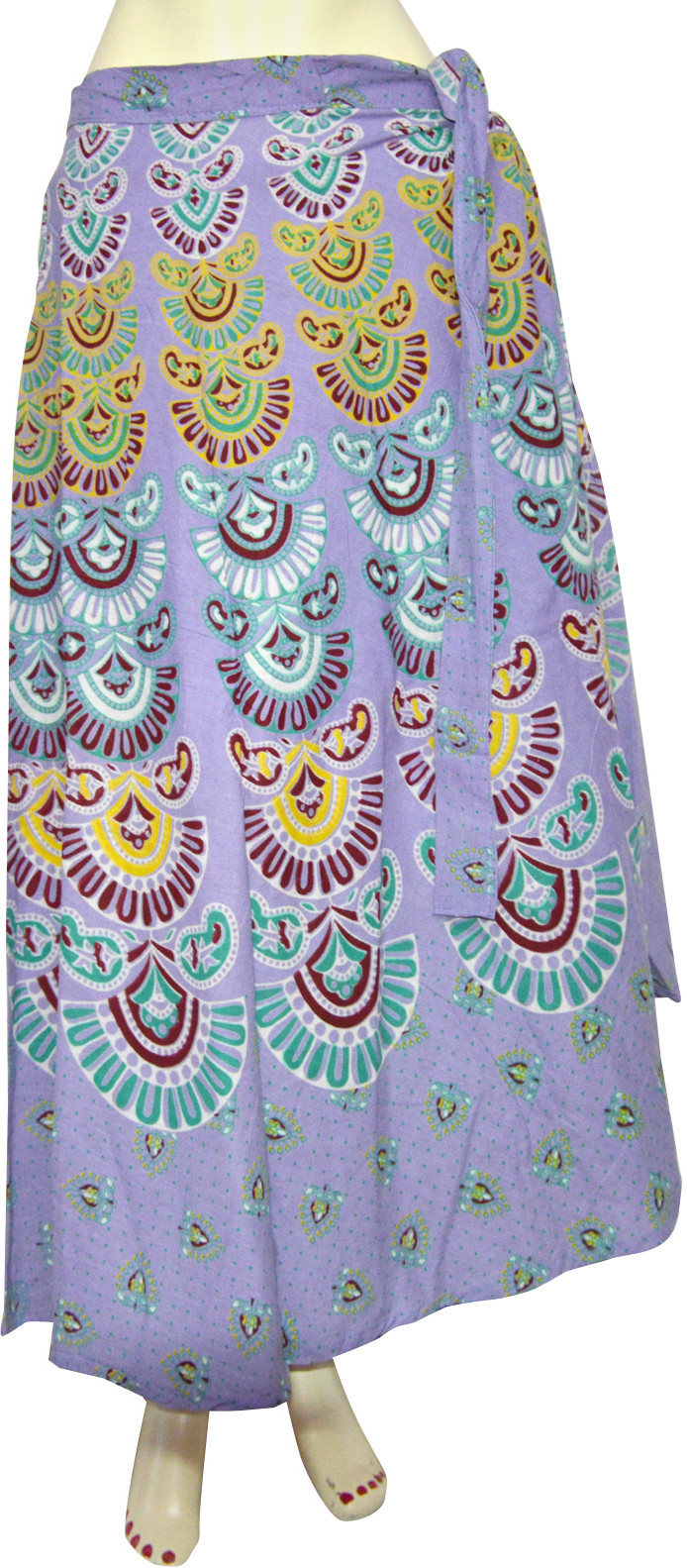Marusthali Printed Womens Wrap Around Multicolor Skirt