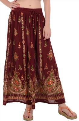 Skirts & Scarves Embellished Women's Broomstick Pink Skirt