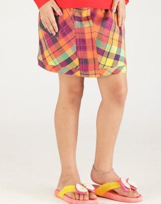 Ventra Printed Girl's Regular Multicolor Skirt