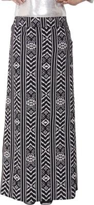 Ragdoll Chevron Women,s A-line Black Skirt