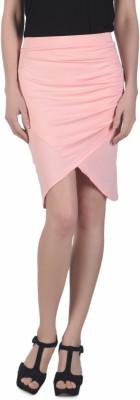 N-Gal Solid Women's Cowl Pink Skirt