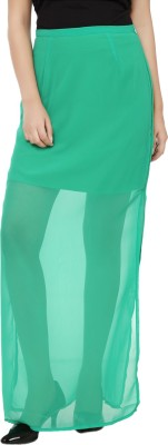 Tops and Tunics Solid Women's Tube Green Skirt